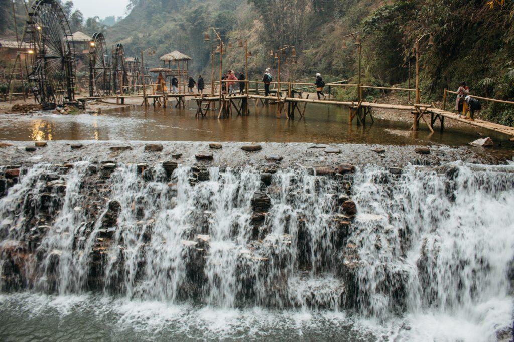 wycieczka do wodospadu Cat Cat wietnam